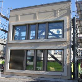 Mock-up der Fassade von Haus 07A